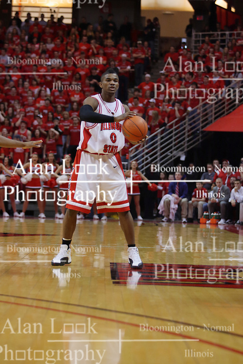 """31 January 2009: Osiris Eldridge. The Illinois State University Redbirds join the Bradley Braves in a tie for 2nd place in """"The Valley"""" with a 69-65 win on Doug Collins Court inside Redbird Arena on the campus of Illinois State University in Normal Illinois"""