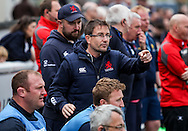 Mike Friday directing the show from the sidelines during the Green King IPA Championship Play-Off match between London Scottish &amp; Worcester at Richmond, Greater London on Saturday 2nd May 2015<br /> <br /> Photo: Ken Sparks | UK Sports Pics Ltd<br /> London Scottish v Worcester, Green King IPA Championship, 2nd May 2015<br /> <br /> &copy; UK Sports Pics Ltd. FA Accredited. Football League Licence No:  FL14/15/P5700.Football Conference Licence No: PCONF 051/14 Tel +44(0)7968 045353. email ken@uksportspics.co.uk, 7 Leslie Park Road, East Croydon, Surrey CR0 6TN. Credit UK Sports Pics Ltd