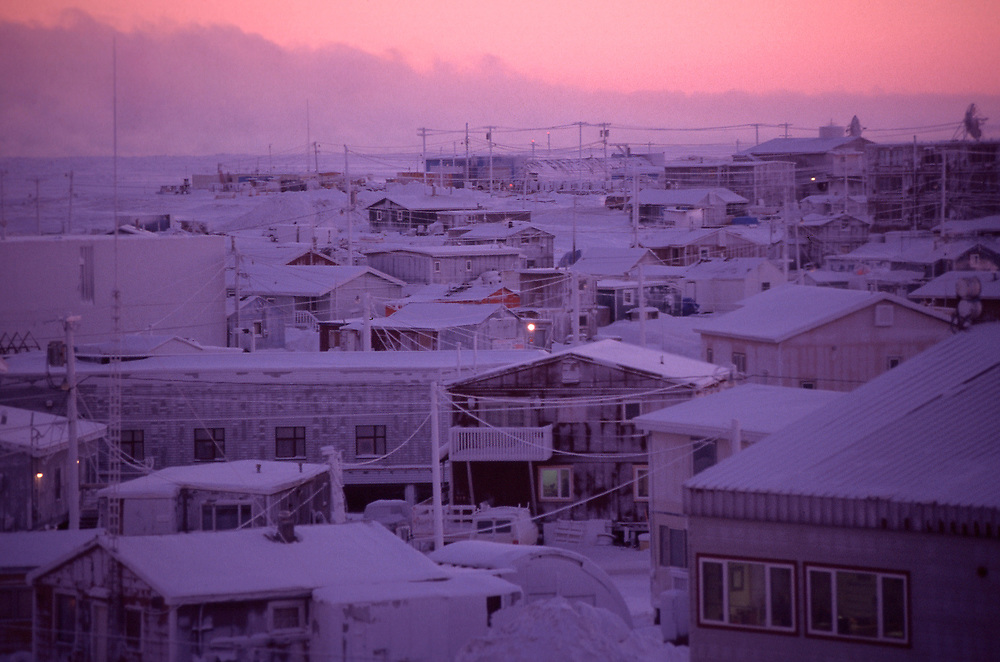 View over the rooftops of Barrow, Alaska