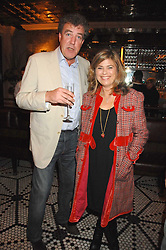 JEREMY CLARKSON and SARAH STANDING at a party to celebrate the publication of Table Talk by A  A Gill held at Luciano, 72-73 St.James's, London on 22nd October 2007.<br />