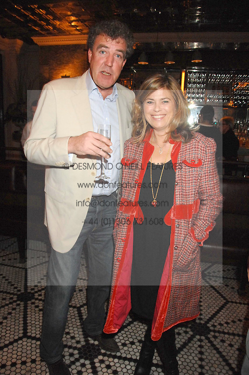 JEREMY CLARKSON and SARAH STANDING at a party to celebrate the publication of Table Talk by A  A Gill held at Luciano, 72-73 St.James's, London on 22nd October 2007.<br /><br />NON EXCLUSIVE - WORLD RIGHTS