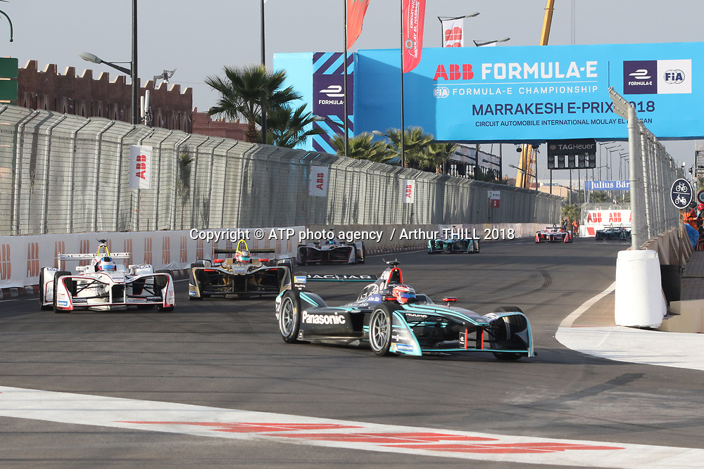 20, Mitch Evans (NZL) - Panasonic Jaguar Racing, Jaguar I-Type 2 <br /> E-Prix, FIA Formula E, Formula E Grand Prix in Marrakesh, Morocco on 13 January 2018. Circuit International Automobile Moulay El Hassan -  Formel E, Elektro e-prix Autorennen, Marrakesch, Marokko, Maroc, <br /> fee liable image, copyright@ ATP Arthur THILL