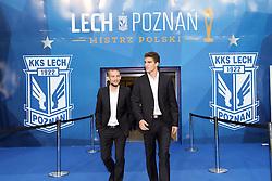29.07.2015, INEA Stadion, Poznan, POL, UEFA CL, Lech Poznan vs FC Basel, Qualifikation, 3. Runde, Hinspiel, im Bild (L) SZYMON PAWLOWSKI (P) MARCIN KAMINSKI // during the UEFA Champions League Qualifier, third round, first Leg match between Lech Posen and FC Basel at the INEA Stadion in Poznan, Poland on 2015/07/29. EXPA Pictures © 2015, PhotoCredit: EXPA/ Newspix/ Wojciech Klepka<br /> <br /> *****ATTENTION - for AUT, SLO, CRO, SRB, BIH, MAZ, TUR, SUI, SWE only*****