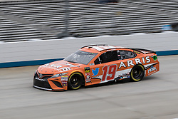 October 5, 2018 - Dover, DE, U.S. - DOVER, DE - OCTOBER 05: Daniel Suarez driver of the #19 ARRIS Toyota takes a lap during Friday's practice for the Monster Energy NASCAR Cup Series Gander Outdoors 400 on October 05, 2018, at Dover International Speedway in Dover, DE. (Photo by David Hahn/Icon Sportswire) (Credit Image: © David Hahn/Icon SMI via ZUMA Press)