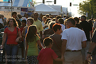 Crowds fill St. Louis Art Fair which offers high-end works in all media; Clayton, Missouri.