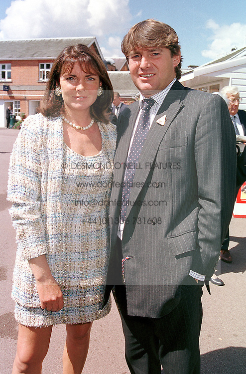Racing figures MRS MIRIAM FRANCOMBE and MR CHARLIE BROOKS, at a luncheon in London on 29th July 2000.OGM 30