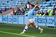 Manchester City Women defender Megan Campbell (5) takes a throw in during the FA Women's Super League match between Manchester City Women and BIrmingham City Women at the Sport City Academy Stadium, Manchester, United Kingdom on 12 October 2019.