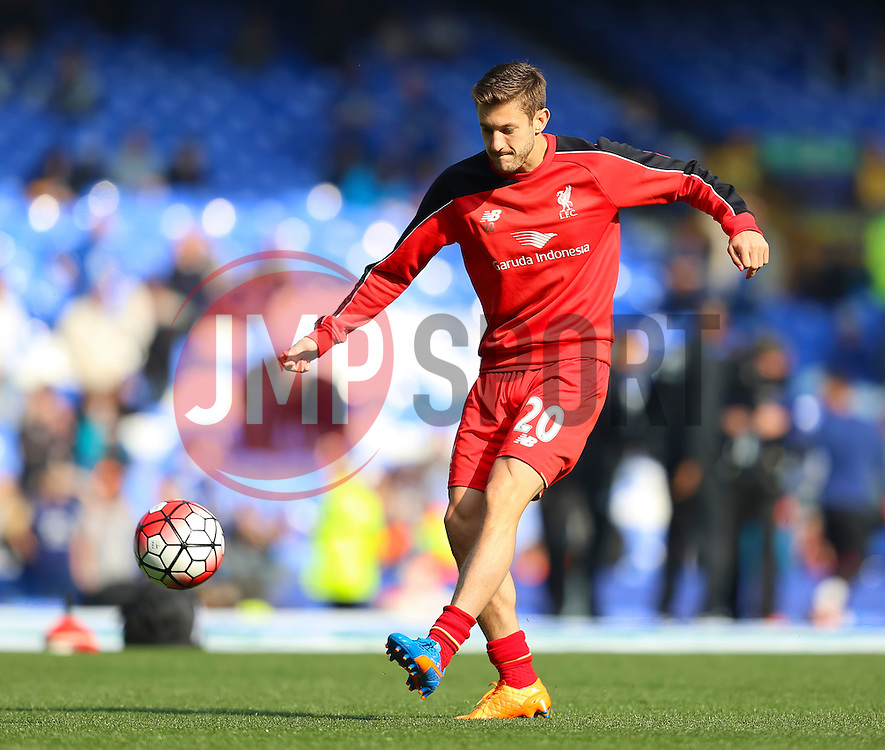 Adam Lallana of Liverpool warms up - Mandatory byline: Matt McNulty/JMP - 07966 386802 - 04/10/2015 - FOOTBALL - Goodison Park - Liverpool, England - Everton  v Liverpool - Barclays Premier League