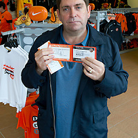 Dundee United Season Tickets...2012-13<br /> George Smith from Dundee with his season ticket<br /> Picture by Graeme Hart.<br /> Copyright Perthshire Picture Agency<br /> Tel: 01738 623350  Mobile: 07990 594431