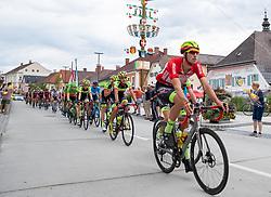 09.07.2019, Frohnleiten, AUT, Ö-Tour, Österreich Radrundfahrt, 3. Etappe, von Kirchschlag nach Frohnleiten (176,2 km), im Bild Jannik Steimle (Team Vorarlberg Santic, GER) Kindberg // Jannik Steimle (Team Vorarlberg Santic GER) during 3rd stage from Kirchschlag to Frohnleiten (176,2 km) of the 2019 Tour of Austria. Frohnleiten, Austria on 2019/07/09. EXPA Pictures © 2019, PhotoCredit: EXPA/ Johann Groder