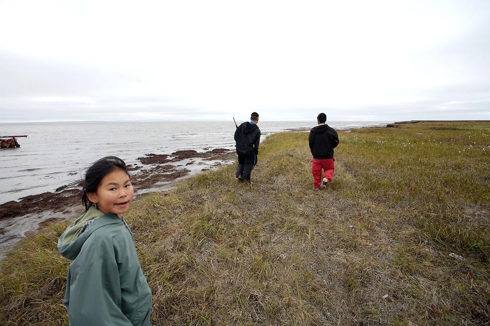 Child playing in Newtok, Alaska. 2008