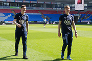 Nottingham Forest forward Joe Lolley (23) and Nottingham Forest midfielder Ben Osborn (11) during the EFL Sky Bet Championship match between Bolton Wanderers and Nottingham Forest at the Macron Stadium, Bolton, England on 6 May 2018. Picture by Jon Hobley.