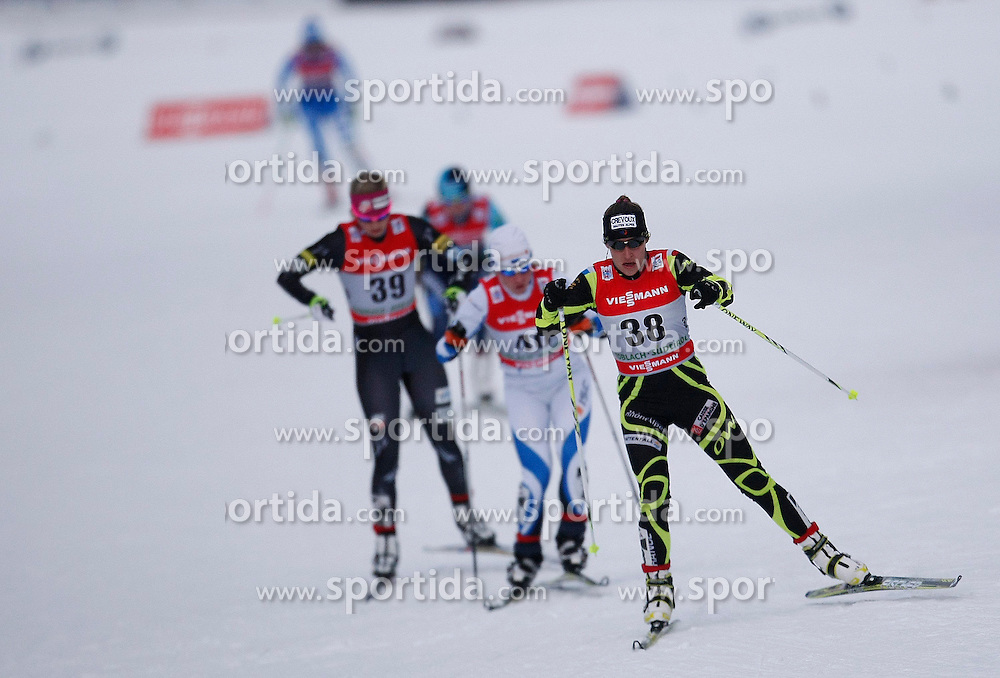 03.01.2013, Nordische Arena, Toblach, ITA, FIS Langlauf Weltcup, Tour de Ski 2013, Damen, 15km Verfolgung, im Bild Coraline Hugue // during Ladies 15 km Free Pursuit of the Tour de Ski 2013 of the FIS cross country world cup at nordic arena in Dobiacco, Italy on 2013/01/03. EXPA Pictures © 2013, PhotoCredit: EXPA/ Newspix/ Irek Dorozanski..***** ATTENTION - for AUT, SLO, CRO, SRB, BIH, TUR, SUI and SWE only *****
