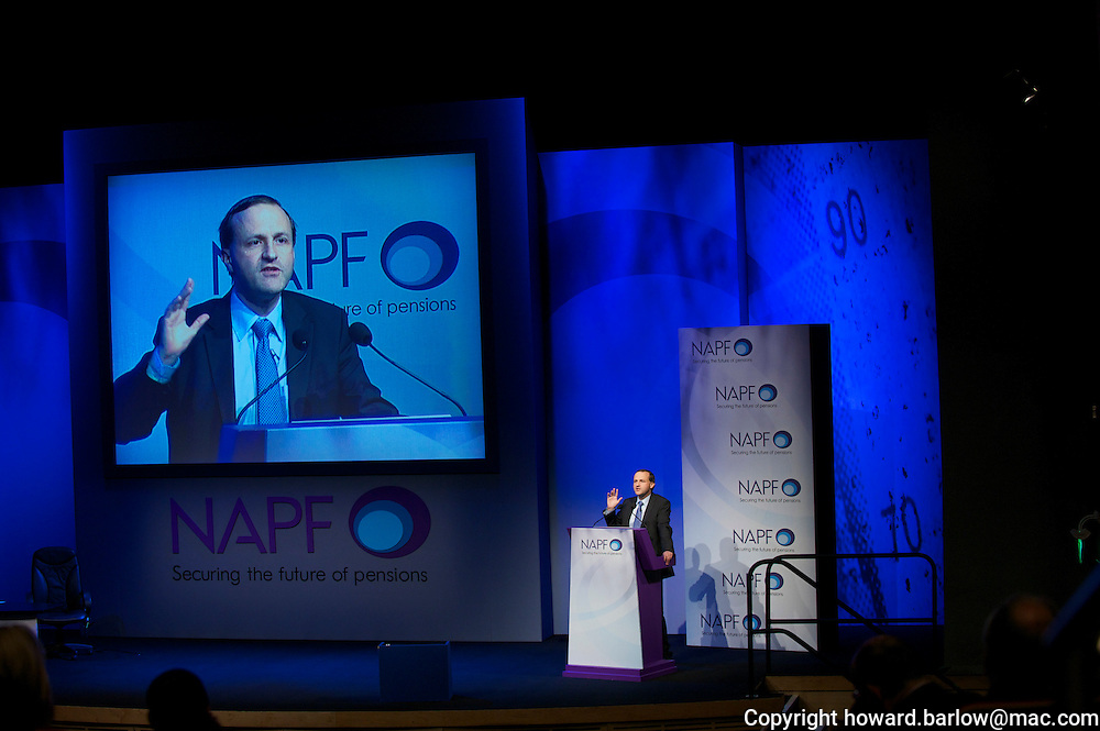 NAPF CONFERENCE MANCHESTER - speaker at NAPF conference STEVE WEBB MP MINISTER FOR PENSIONS