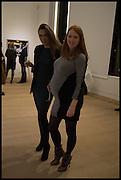 GINTA GELVAN; SARAH SHOTTON, Steven Meisel: Role Play - private view Phillips,, Berkeley Sq. London. 16 December 2014.