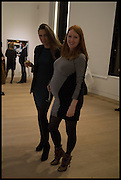 GINTA GELVAN; SARAH SHOTTON, Steven Meisel: Role Play - private view Phillips,, Berkeley Sq. London. 16 December 2014.
