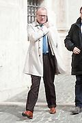 2013/03/19 Roma, parlamentari in Piazza Montecitorio. Nella foto Gianfranco Rotondi.<br /> Rome, parliamentarians in Montecitorio Square. In the picture Gianfranco Rotondi - &copy; PIERPAOLO SCAVUZZO