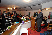 The town of Jena Louisiana rescheduled their Martin Luther King Holiday festivities from Monday to Sunday because the Nationalist Movement planned a march in Jena on MLK day. Reverand Al Sharpton speaks Sunday Jan. 20,2008 at the Antioch Baptist Church in Jena Louisiana. Sharpton came to Jena the day before Martin Luther King holiday because the Nationalist Movement lead by Richard Barrett is to march on Jena Monday during MLK holiday. The Nationalist movement is coming to Jena in response to the Jena 6 rally last year. Sharpton was in Jena to protest the Jim Crow Justice still prevalent in the south. Sharpton discussed his feeling about MLK's legacy and how it should be celebrated and that their are still, today in the South many things to fight for, Equal Justice would be at the top of his list. Sharpton said you can not heal the community until justice is dealt with fairly, no white justice or black  justice -Equal Justice for all is what will heal the town of Jena.(Photo/© Suzi Altman)