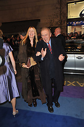 SIR DAVID & LADY CARINA FROST  arrive at the press night of the new Andrew Lloyd Webber  musical 'The Wizard of Oz' at The London Palladium, Argylle Street, London on 1st March 2011 followed by an aftershow party at One Marylebone, London NW1