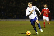 Ryan Lowe of Bury in action during the Sky Bet League 1 match between Bury and Barnsley at The JD Stadium, Bury, England on 23 February 2016. Photo by Simon Brady.