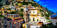 &ldquo;Overview of the Church of Santa Maria Assunta in Positano&rdquo;&hellip;<br />