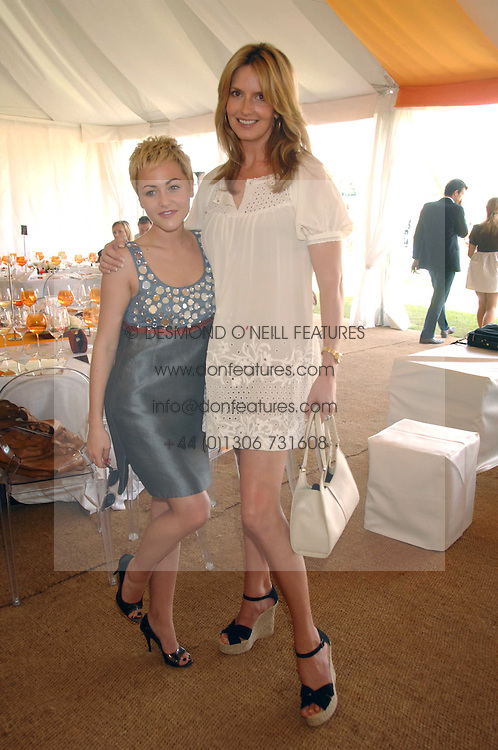 Left to right, actress JAIME WINSTONE and PENNY LANCASTER wife of Rod Stewart at the final of the Veuve Clicquot Gold Cup 2007 at Cowdray Park, West Sussex on 22nd July 2007.<br />