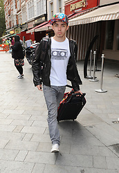 Nathan Sykes from The Wanted leaving Capital fm in central London, UK. 12/09/2012<br />BYLINE MUST READ : GOTCHAIMAGES.COM<br /><br />Copyright by © Gotcha Images Ltd. All rights reserved.<br />Usage of this image is conditional upon the acceptance <br />of Gotcha Images Ltd, terms and conditions available at<br />www.gotchaimages.com