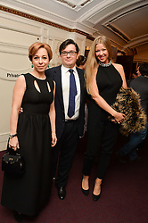Left to right, Marianna Maximovskaya, Vassily Borisova and Julia Oboukhova at the Ave Maya Ballet gala in memory of Maya Plisetskava held at the English National Opera, St.Martin's Lane, London on 6th March 2016.
