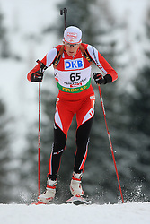 Tobias Eberhard (AUT) at Men 20 km Individual at E.ON Ruhrgas IBU World Cup Biathlon in Hochfilzen (replacement Pokljuka), on December 18, 2008, in Hochfilzen, Austria. (Photo by Vid Ponikvar / Sportida)