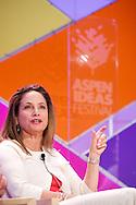 "Karen Dahut of Booz Allen Hamilton moderates the ""How Can US Companies Create and Maintain an Innovative Culture?"" panel at the 2014 Aspen Ideas Festival in Aspen, CO. ©Brett Wilhelm"