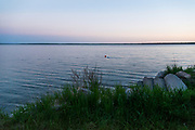 Sunset view of Clear Lake in Riding Mountain National Park, Manitoba