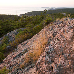 The view from Duck Harbor Mountain on Isle Au Haut in Maine's Acadia National Park.
