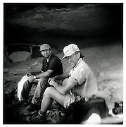 Archeologist Curtis Martin and student Pat Hubbard