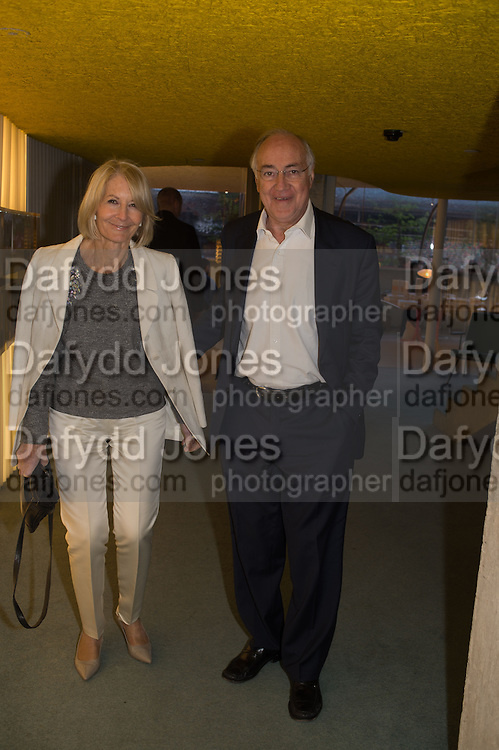 SANDRA HOWARD; MICHAEL HOWARD, Launch of ' More Human',  Designing a World Where People Come First' by Steve Hilton. Party held at Second Home in Princelet St, off Brick Lane, London. 19 May 2015.