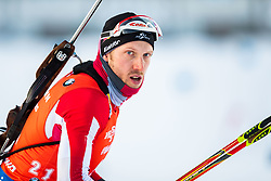 March 10, 2019 - –Stersund, Sweden - 190310 Dominik Landertinger of Austria ahead of the Men's 12,5 km Pursuit during the IBU World Championships Biathlon on March 10, 2019 in Östersund. 10, 2019 in Östersund..Photo: Johan Axelsson / BILDBYRÃ…N / Cop 245 (Credit Image: © Johan Axelsson/Bildbyran via ZUMA Press)