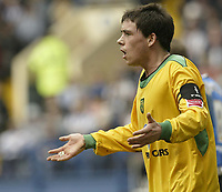 Photo: Aidan Ellis.<br /> Sheffield Wednesday v Norwich City. Coca Cola Championship. 15/04/2006.<br /> Norwich's Ian Henderson moans at the linesman