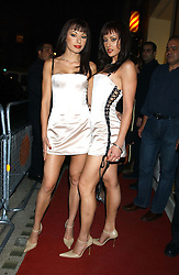 The CHEEKY GIRLS at a party to celebrate the opening of Ishtar - a new mediterainian restaurant in Crawford Street, London W1 on 15th September 2004.<br />