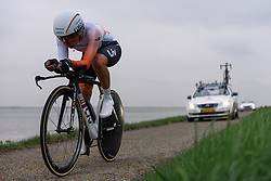 Anouska Koster (rabo Liv) at Omloop van Borsele Time Trial 2016. A 19.9 km individual time trial starting and finishing in 's-Heerenhoek, Netherlands on 22nd April 2016.