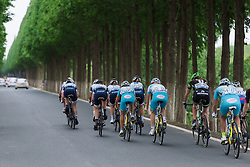 Poitou Charentes Futuroscope have the numbers on the front - Tour of Chongming Island 2016 - Stage 2. A 113km road race on Chongming Island, China on May 7th 2016.