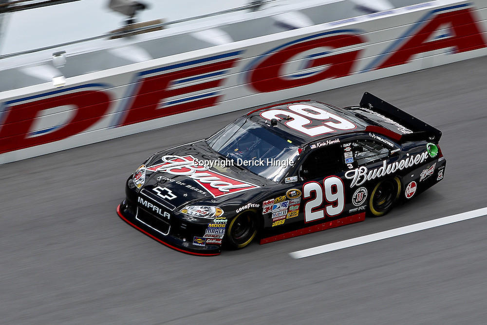 April 16, 2011; Talladega, AL, USA; NASCAR Sprint Cup Series driver Kevin Harvick (29) during qualifying for the Aarons 499 at Talladega Superspeedway.   Mandatory Credit: Derick E. Hingle
