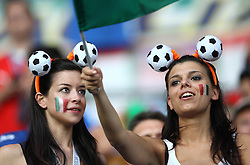 Italian fans before the UEFA EURO 2008 Quarter-Final soccer match between Spain and Italy at Ernst-Happel Stadium, on June 22,2008, in Wien, Austria.  (Photo by Vid Ponikvar / Sportal Images)