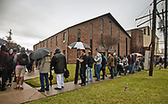 Line that stretch around the block in New Orleans at a gun buyback event called for by New Orleans Mayor  LaToya Cantrell. The line started forming at 5;30 AM for the 11.AM start time.  Only 200 of the more than 1000 people who turned out were able to claim the $500 offered for any gun in working condition that was turned in. When the Mayor first annoucned the buyback progran no limits were put on how many guns you could bring in for $500. That was changed to $500 maximium payout to any one who could prove resdienciy in Orleans Parish.
