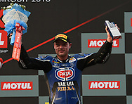 BURIRAM, THAILAND - MARCH 25: Alex Lowes (#22) of United Kingdom and Pata Yamaha Official WorldSBK Team reaction on the podium during Day 3 at the Motul Thai Round Superbike World Championship 2018, Chang International Circuit, Buriram, Thailand on March 25, 2018.<br /> .<br /> .<br /> .<br /> (Photo by: Naratip Golf Srisupab/SEALs Sports Images)<br /> .<br /> Any image use must include a mandatory credit line adjacent to the content which should read: Naratip Golf Srisupab/SEALs Sports Images