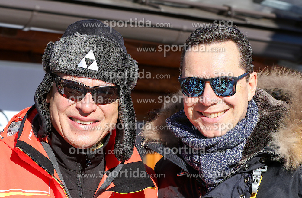 24.01.2017, Planai, Schladming, AUT, FIS Weltcup Ski Alpin, Slalom, Herren, Prominenten-Eisstockschießen, ländliches Mittagsvergnügen, im Bild Toni Polster und Alex Kristan // during a ice stock event prior to the Schladming FIS Ski Alpine World Cup 2017 at the Planai in Schladming, Austria on 2017/01/24. EXPA Pictures © 2017, PhotoCredit: EXPA/ Martin Huber