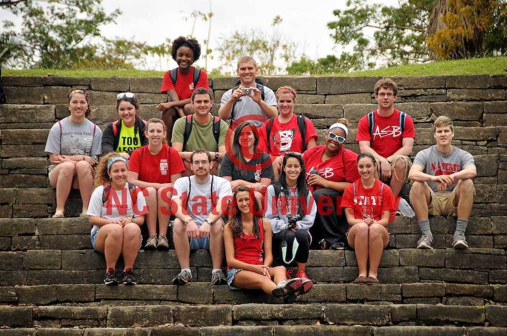 Team Belize at Lubaatun ruins.