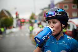 Alicia Gonzalez (ESP) after Ladies Tour of Norway 2018 Stage 2, a 127.7 km road race from Fredrikstad to Sarpsborg, Norway on August 18, 2018. Photo by Sean Robinson/velofocus.com