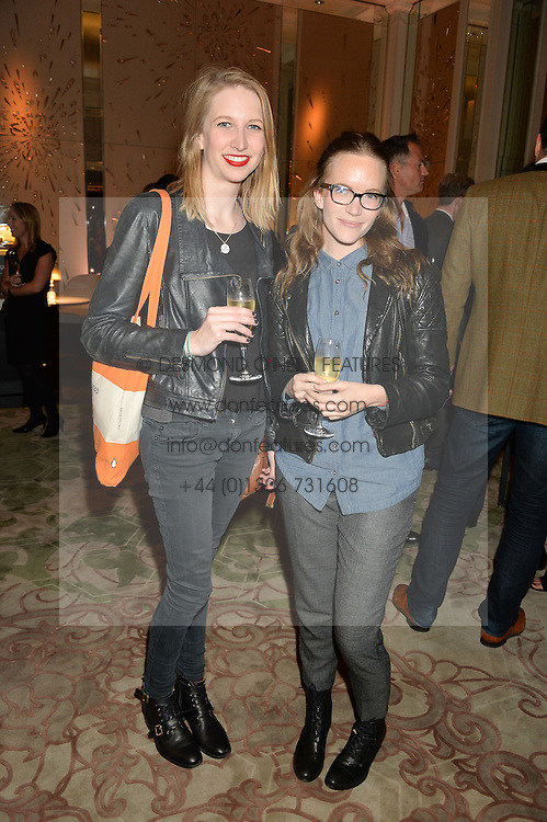 Left to right, sisters KATIE MERCHANT and TAMZIN MERCHANT at the IWC Schaffhausen hosted Private Screening of The Lobster In Celebration Of The BFI - before the screening a drinks reception was held at The Langham Hotel, London on 15th October 2015.