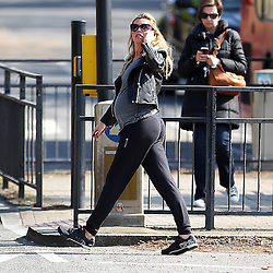 Heavily pregnant model Abbey Clancy out and about in London, UK. 07/04/2015<br /> BYLINE MUST READ : GOTCHAIMAGES.COM<br /> <br /> Copyright by © Gotcha Images Ltd. All rights reserved.<br /> Usage of this image is conditional upon the acceptance <br /> of Gotcha Images Ltd, terms and conditions available at<br /> www.gotchaimages.com