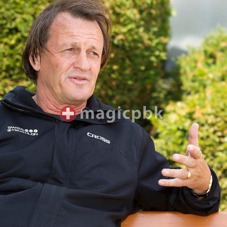 Triathlon coach Brett SUTTON of Australia is pictured during an interview in Leysin, Switzerland, Wednesday, June 15, 2011. (Photo by Patrick B. Kraemer / MAGICPBK)