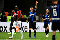 Mauro Icardi of Internazionale celebrates after scoring a goal during the Serie A 2018/2019 football match between Fc Internazionale and AC Milan at Giuseppe Meazza stadium Allianz Stadium, Milano, October, 21, 2018 <br />  Foto Andrea Staccioli / Insidefoto